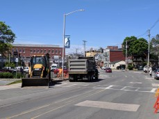 DPW crosswalk sidewalk and puddle repair_Rogers Street Gloucester MA_20190617_©c ryan (2)