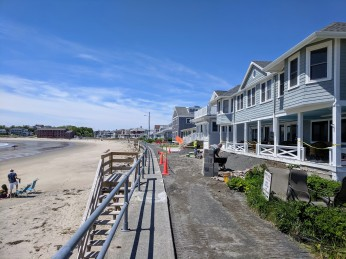 foundation and deck work repairs at former hotel midway Long Beach seawall front row cottages_private _20190607_©c ryan