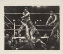 george Bellows litho 1923_ Dempsey and Firpo_ MoMa collection