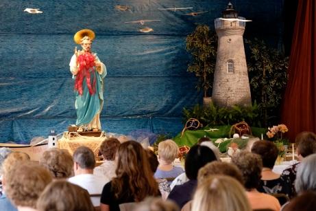 Saint Peter's Fiesta Novena Closing Night Procession to Beach Court 2019 copyright Kim Smith - 04