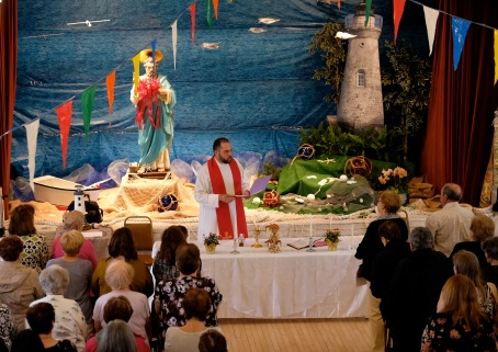 Saint Peter's Fiesta Novena Closing Night Procession to Beach Court 2019 copyright Kim Smith - 22
