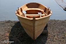 Launching the student built 'Essex Clam Skiff' at Essex Shipbuilding Museum