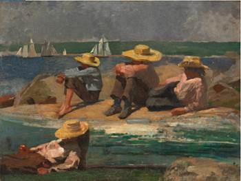 Winslow Homer Children on the Beach 1873 oil on canvas private collection.jpg