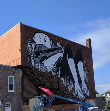 artist muralist Alex Senna of Sao Paulo Brazil_Beverly Mass_new murals commissioned for Cabot building_20190719 ©c ryan (2)