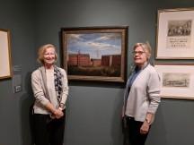 Cape Ann Museum Fitz Henry Lane exhibition_20171028_Dir Ronda Faloon L curator R ©c ryan 152029