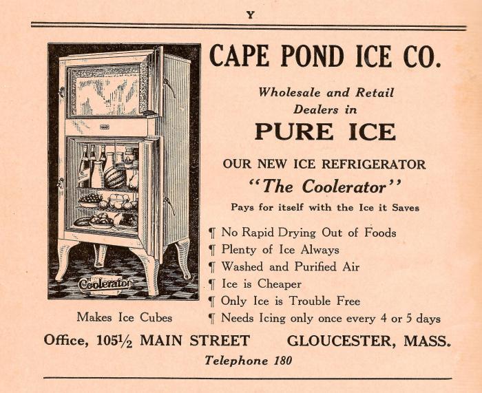 Cape Pond Ice Company ad 1936 directory