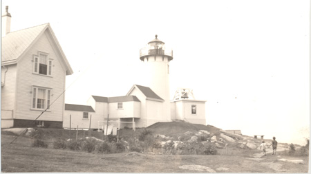 Eastern Point Light Station 1939 w keeper