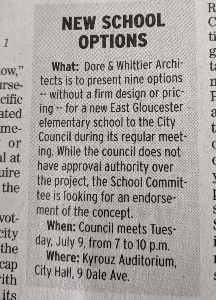 Gloucester Daily Times notice for New school buildings presentation to city council_20190708_085042 (2)