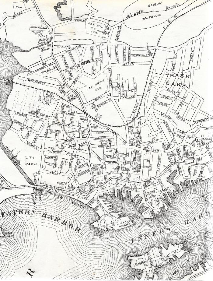 Gloucester map 1937 directory