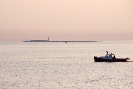 Stanley Thomas Lobster Boat Thacher Island Twin Lights copyright Kim Smith - 1