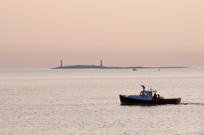 Stanley Thomas Lobster Boat Thacher Island Twin Lights copyright Kim Smith - 2