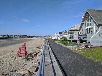 summer 2019_Long Beach seawall walkway looking back to Gloucester side_20190722_©c ryan