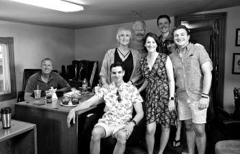 The 39 Steps Gloucester Stage Company Cast copyright Kim Smith - 01