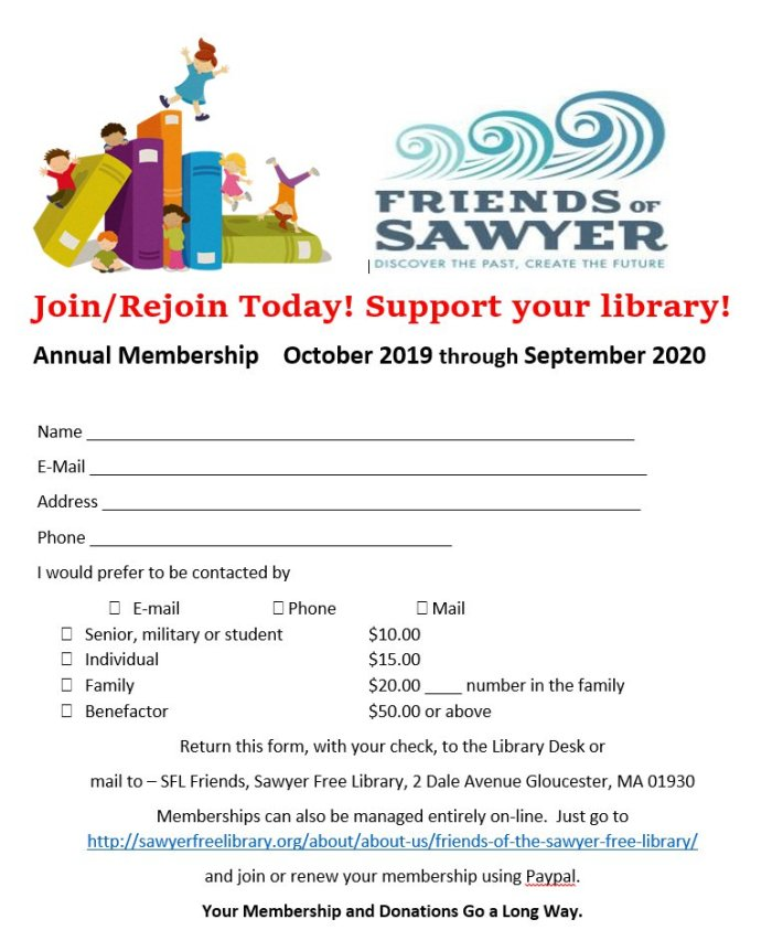 2019 Friends of Sawyer Free membership drive 2019.jpg