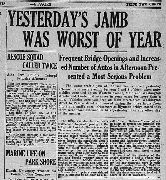 Bridge Traffic worst GDT Aug 22 1938