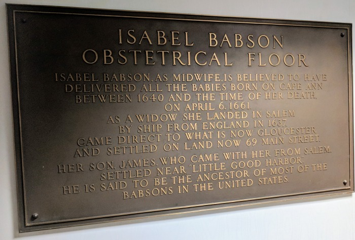 Isabel Babson history plaque_Obstetrical Floor Addison Gilbert _20180525_©c ryan