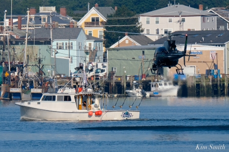 KRaken Fishing Boat Helicopter Filming Gloucester Harbor copyright Kim Smith - 02