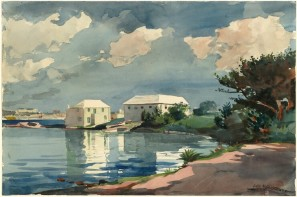 salt kettle bermuda 1899 wc over graphite National Gallery