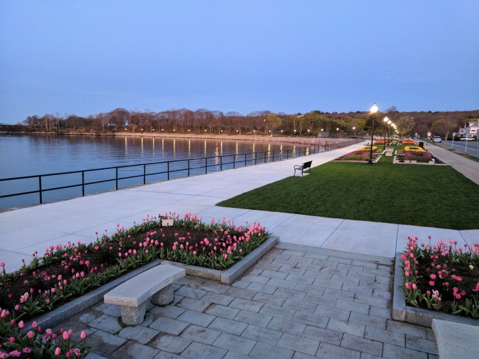 Stacy Boulevard promenade and gardens looking western edge Stage Fort Park_20170504_Gloucester harbor ©c ryan.jpg