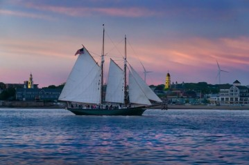 Steve Rosenthal The Schooner, Thomas E. Lannon, in the Harbor #1 2019_Archival pigment print_ Cape Ann Museum_Gift of the photographer 2019