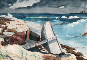 WINSLOW HOMER art inst chicago_ After the hurricane Bahamas_ watercolor winter 1898 to 1899