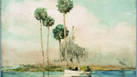 WINSLOW HOMER The White Rowboat St. Johns River_1890_ watercolor_ Cummer Museum