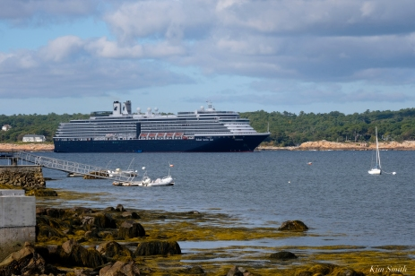 Cruiseship Gloucester Harbor Holland America -1 copyright Kim Smith