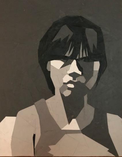 Dina Gomery, Her Dark Eyes, collage