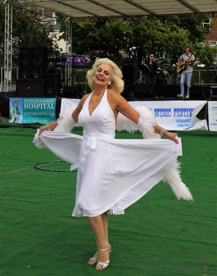 Mistress of Ceremonies: Theresia Millasovich as Marilyn Monroe!