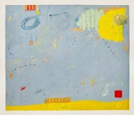 Lynne Sausele, Blue Landscape, mixed media
