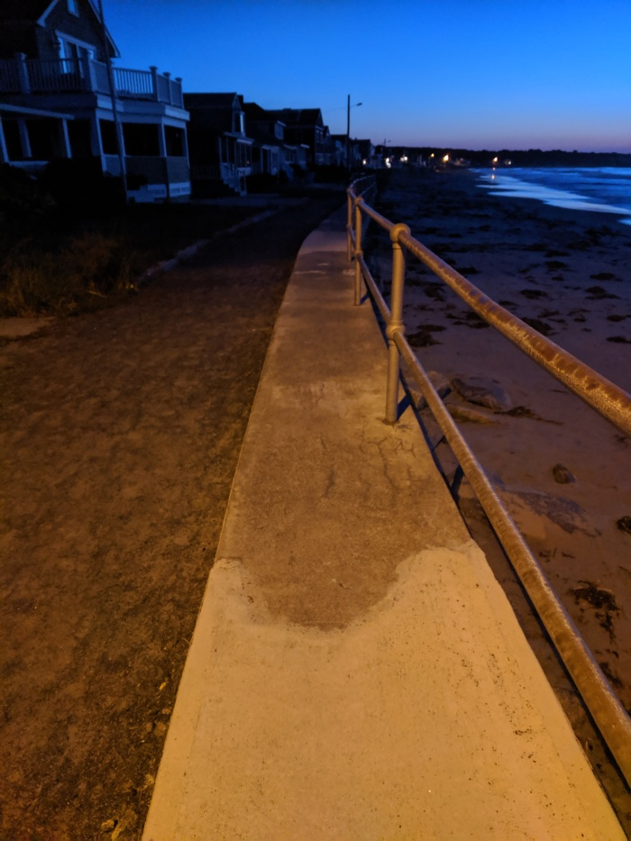 September sunrise_ high tide splashed over seawall_Long Beach Rockport Gloucester Mass_20190921_© cryan (1)