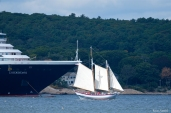 Zuiderdam Cruiseship SCHOONER ARDELLE Gloucester Massachusetts -1 copyright Kim Smith