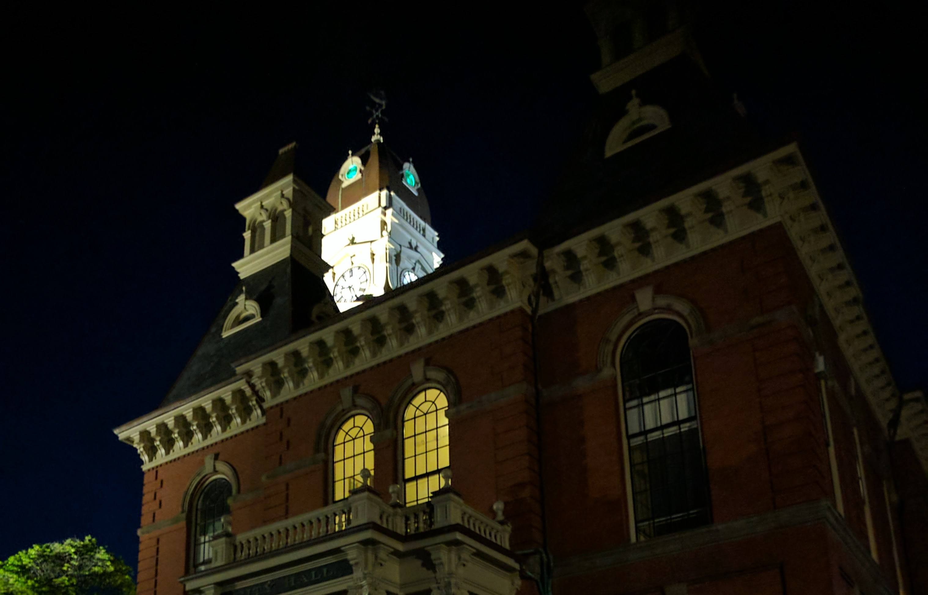 color added to lights of City Hall clock tower _20170612_Gloucester MA ©c ryan.jpg