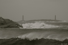 NOR'EASTER October Twin Lights Rockport Massachusetts copyright Kim Smith - 02