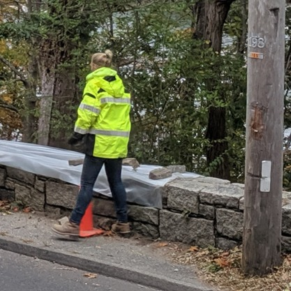 nor'easter pauses work in process_Gloucester DPW stone wall repair Lobster Cove Washington Street_20191009_© c Ryan (1)
