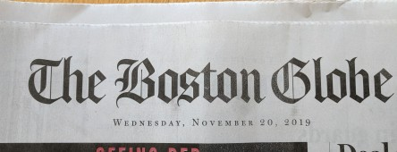 Boston Globe header Nov 21 2019