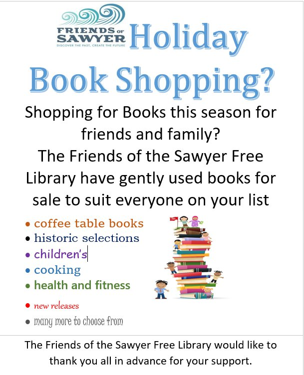 Friends of Sawyer Free Library Holiday Book Shopping.jpg