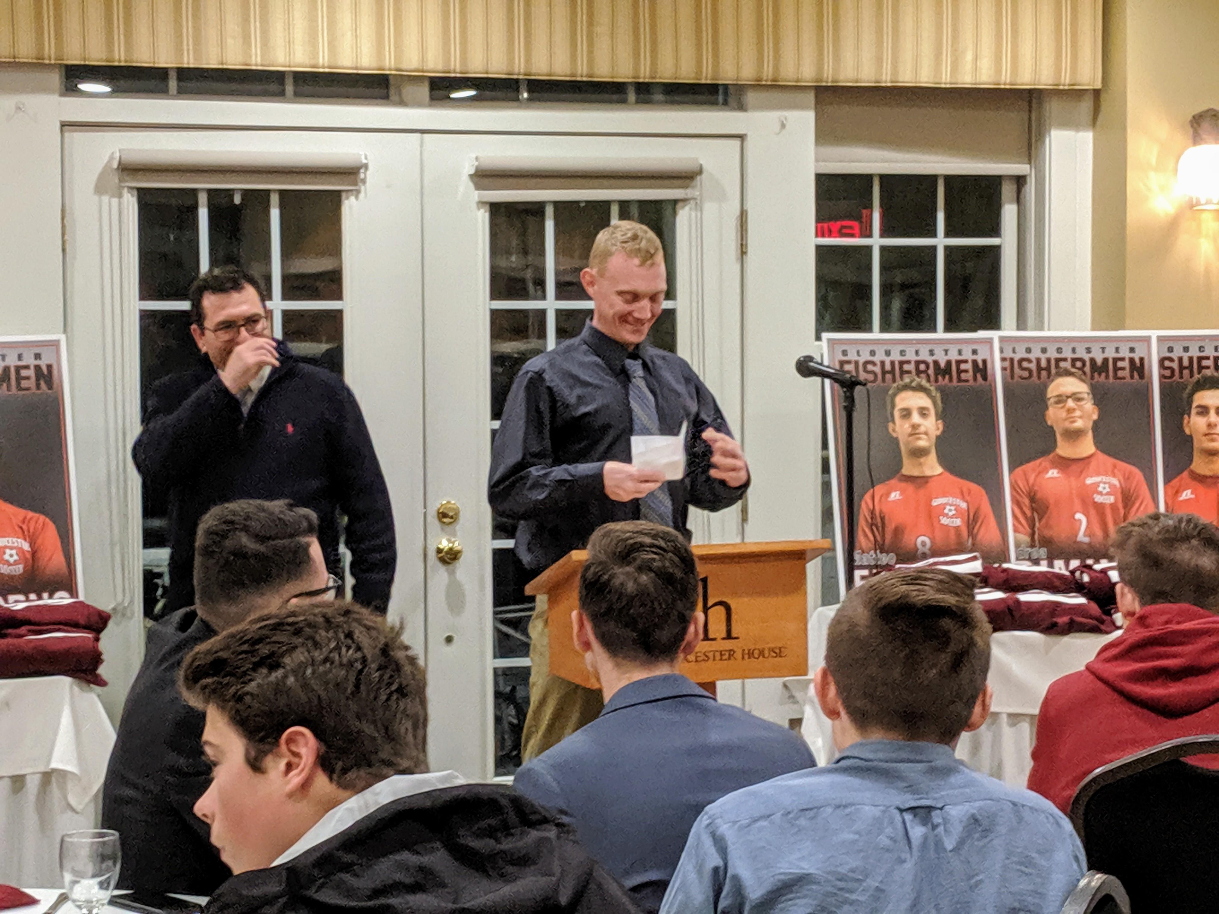 JV Coach Jason Rutsaukus_GHS boys Soccer banquet 20191124_soccer boosters at Gloucester House restaurant © c ryan (1)