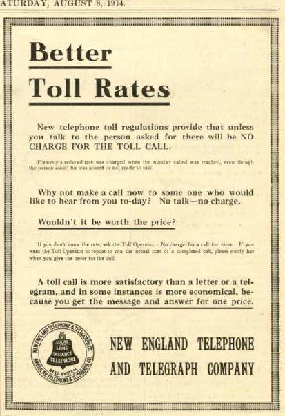 Phone ad 1914