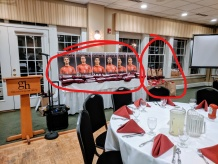 This swag is no joke! GHS boys Soccer banquet 20191124_soccer boosters at Gloucester House restaurant © c ryan