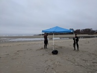 UMASS surf club_20190406_setting up for first competition on Good Harbor Beach Gloucester MA spring 2019 (1)