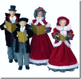4 Piece Houndstooth Caroling Family Set[1]