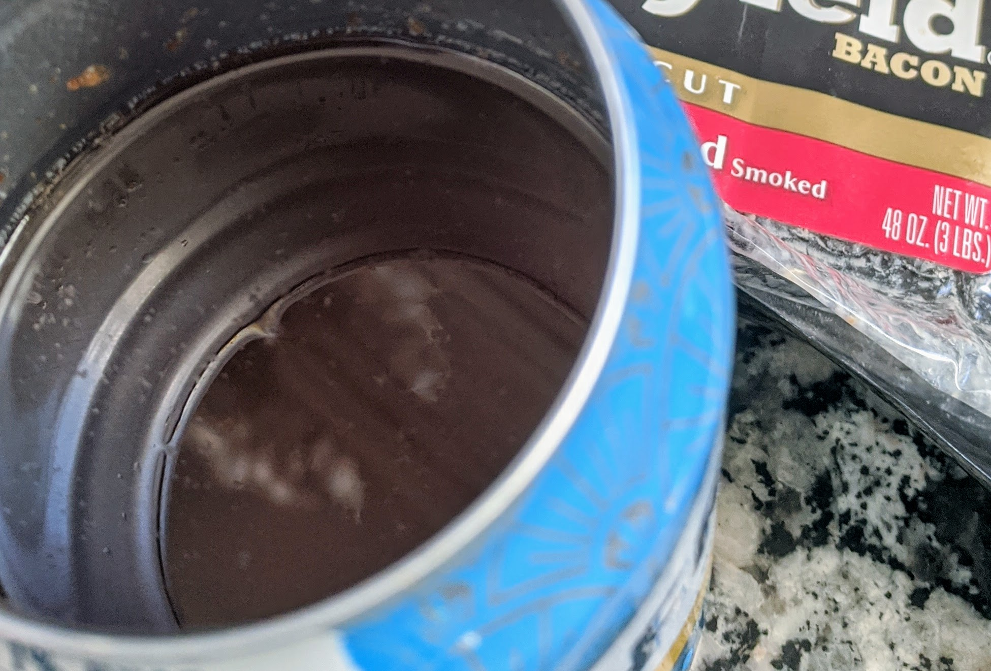 bacon grease poured into can not drain ©c ryan.jpg