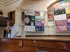 Cape Ann contributions to the Aids Quilt Names Project_public art on temporary display at City Hall Gloucester MA Nov December 2019_Gloucester Health Project (1)