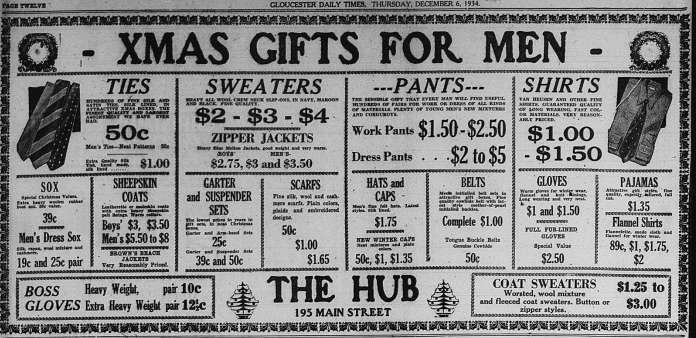 Christmas gifts for Men GDT Dec 6 1934