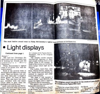 Gloucester Daily Times article A Light Touch for Christmas by Ken Fish ca.1985 page 2 - courtesy Pauline Bresnahan