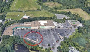 google earth aerial Danvers shopping plaza_ RMV Danvers stand alone building