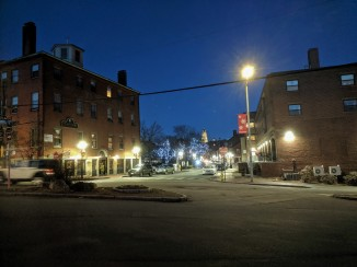 Holiday lights Main St at Washington_ Christmas 2019 Gloucester Mass_20191210_©c ryan