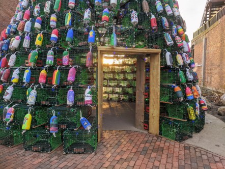 Lobster trap tree Gloucester Ma 2019 day_ buoys hand painted by community kids facilitated by Cape Ann Art Haven ©c ryan (12)