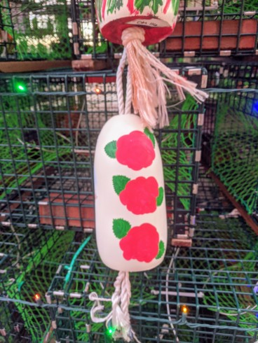 Lobster trap tree Gloucester Ma 2019 day_ buoys hand painted by community kids facilitated by Cape Ann Art Haven ©c ryan (3)
